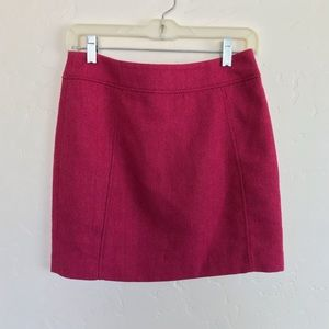 H&M Pink Houndstooth Textured Mini Skirt Size 6